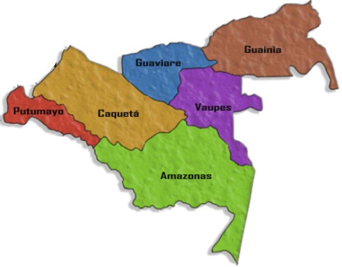 departamentos de la amazonia