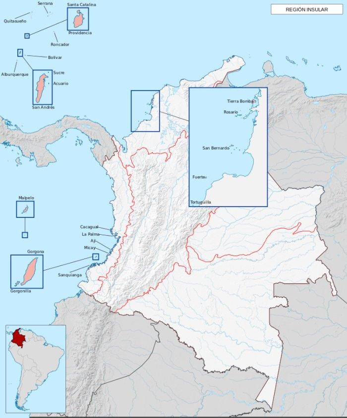 cual es la region insular de colombia
