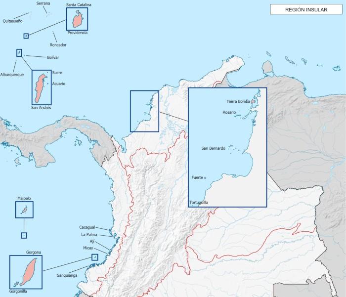 cuales son las islas de la region insular