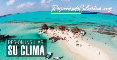 cual es el clima de la region insular de colombia
