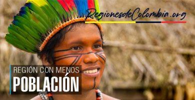 cual es la region menos poblada de colombia